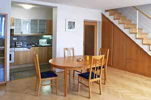 Well kept building with an elevator and safety code for your protection. Safe parking place and sauna (for a fee, upon previous request)! This  two-bedroom serviced apartment is 80 sq.m ,  and can sle