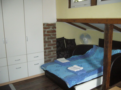 Serviced apartments in Serbia are designed with a bedroom, dining room, small bathroom and kitchen.	    This  one-bedroom furnished apartment is 28 sq.m and is located . The apartment has 1 bathroom.