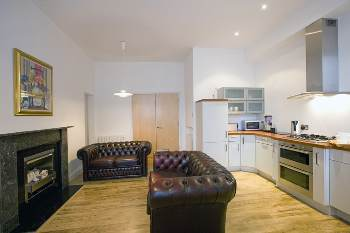 Serviced apartments in the heart of Aberdeen city centre offering a home environment that is inviting and comfortable, making short and long stays a very enjoyable experience. This  two-bedroom servic