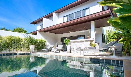 This stunning two - storey, modern contemporary villa with three bedrooms, three bathrooms, (sleeps six maximum), private plunge pool and outdoor living area, is ideal for large families and friends t