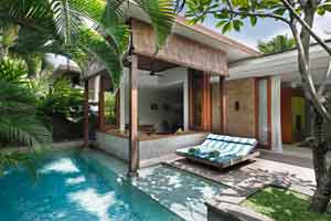 Within your villa you have your own private 8x3 meter pool among a leafy Balinese garden, 140 square meters with doors and windows that fold away and disappear to let you feel totally open and free. *
